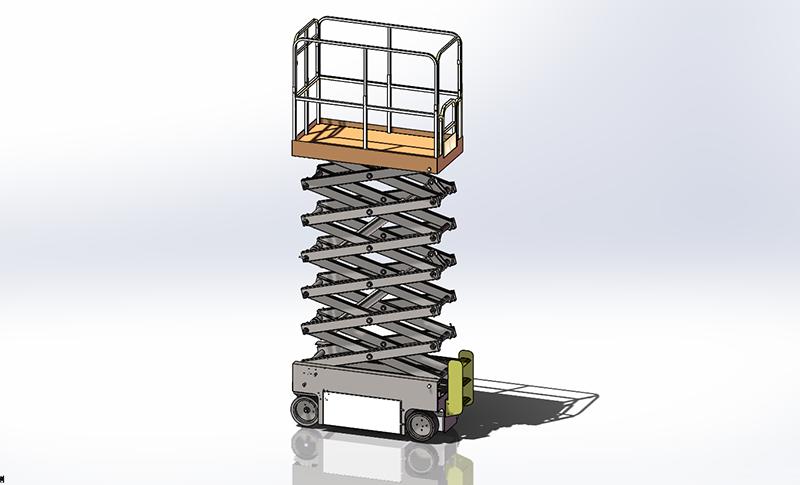自行升降机车架组建